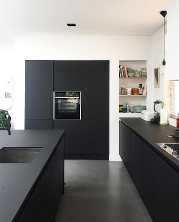 Zwarte keuken | House en 2019 | Cuisine moderne, Cuisines ...