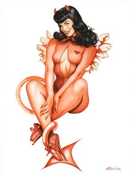 Bettie Page devil by Olivia