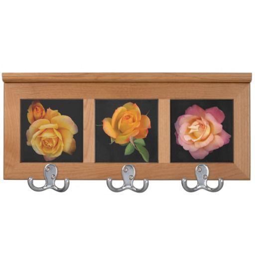 Golden Yellow Roses Coat Rack By Stan
