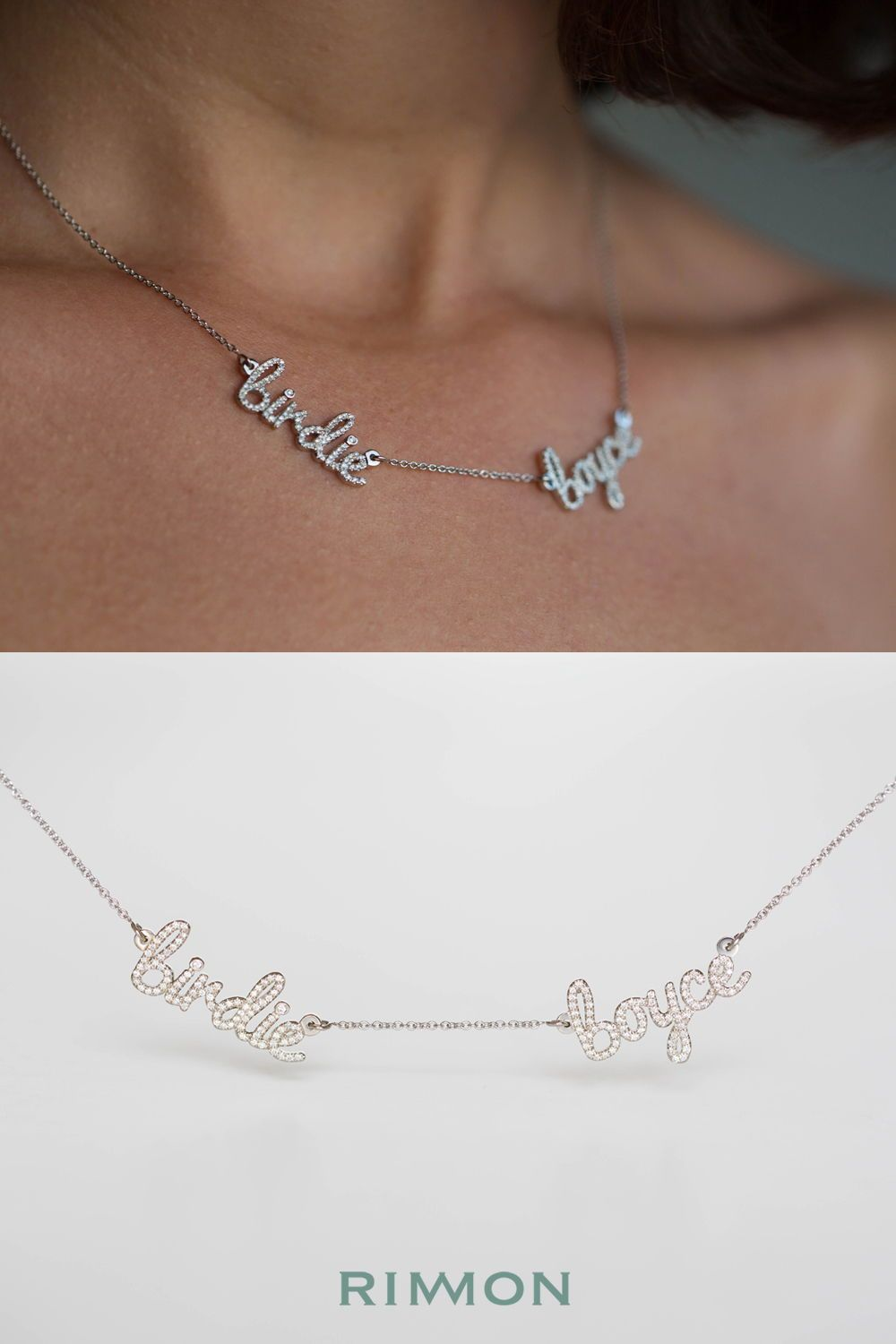 808a18c9a805b Multiple Names Diamond Necklace | Easter Valentines St Patricks ...
