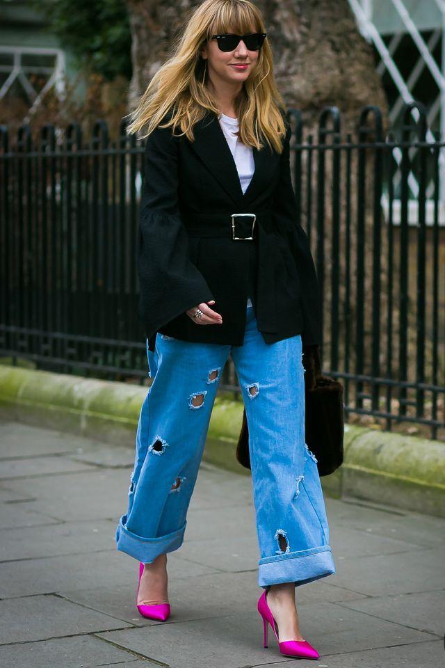 Capsule Wardrobe For Spring: Bright pumps on Lisa Aiken