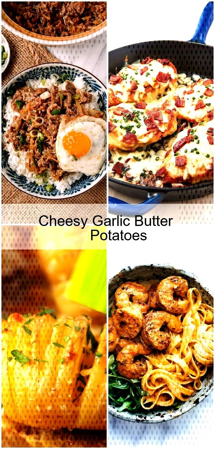 Cheesy Garlic Butter Potatoes Cheesy Garlic Butter Potatoes,