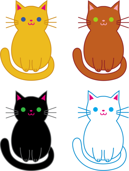 set of four kittens three little kittens lost their mittens rhyme rh pinterest com K Is for Kitten Cat Clip Art