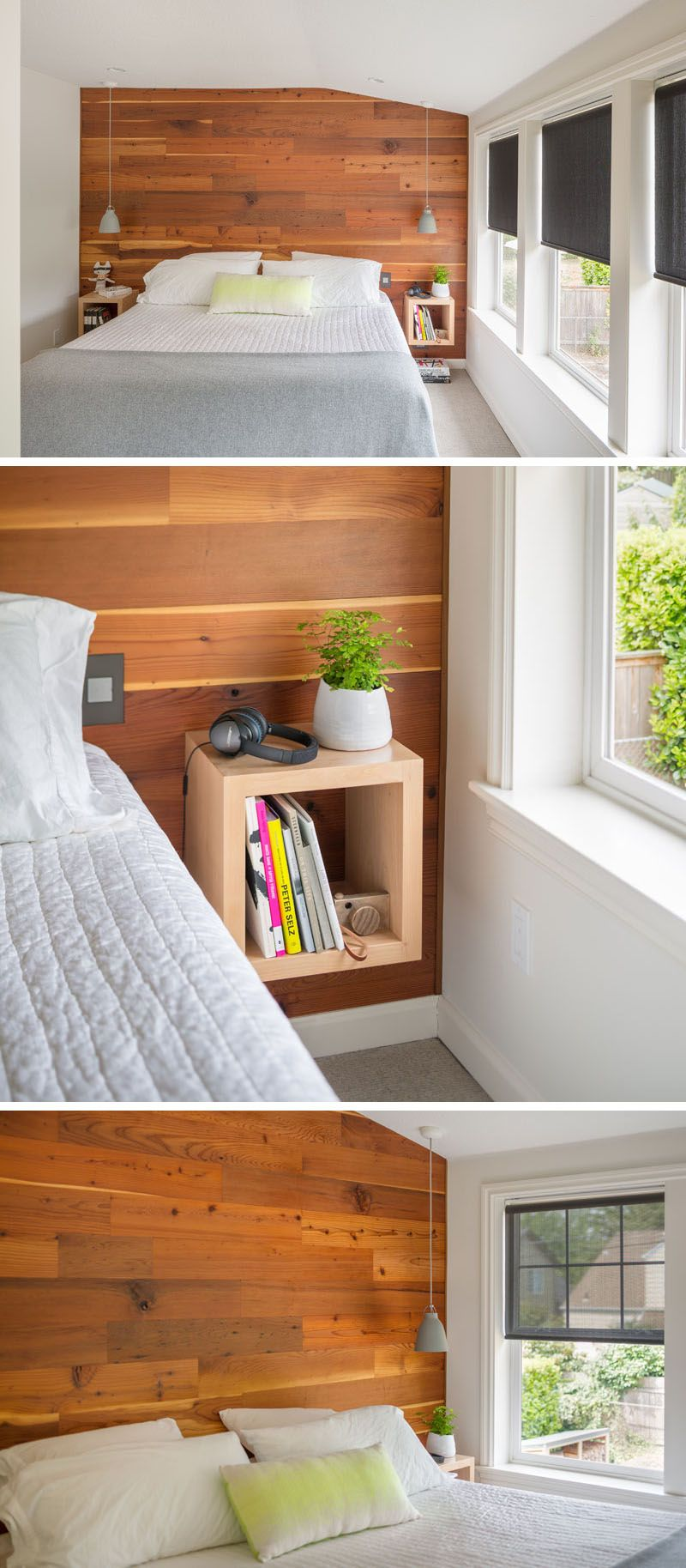 Bedroom Design Ideas Wood Accent Wall Behind The Bed With