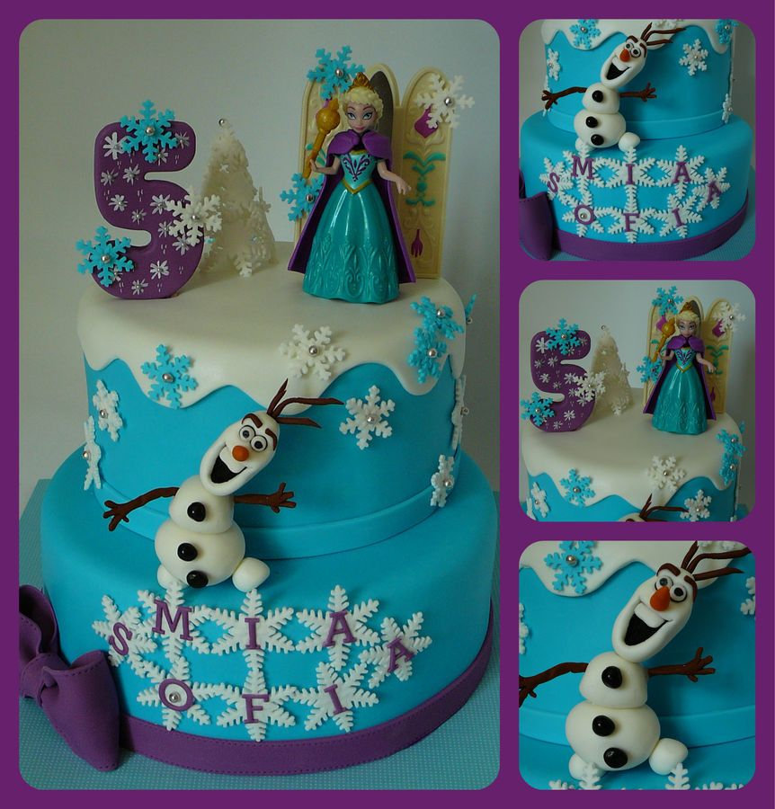 My first Frozen theme cake for MiaSofia, 5 years old