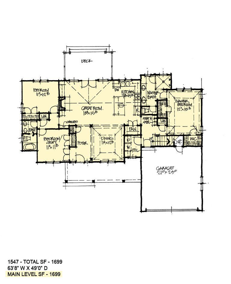 First Floor Of Conceptual House Plan 1547 House Plans House Floor Plans Floor Plans