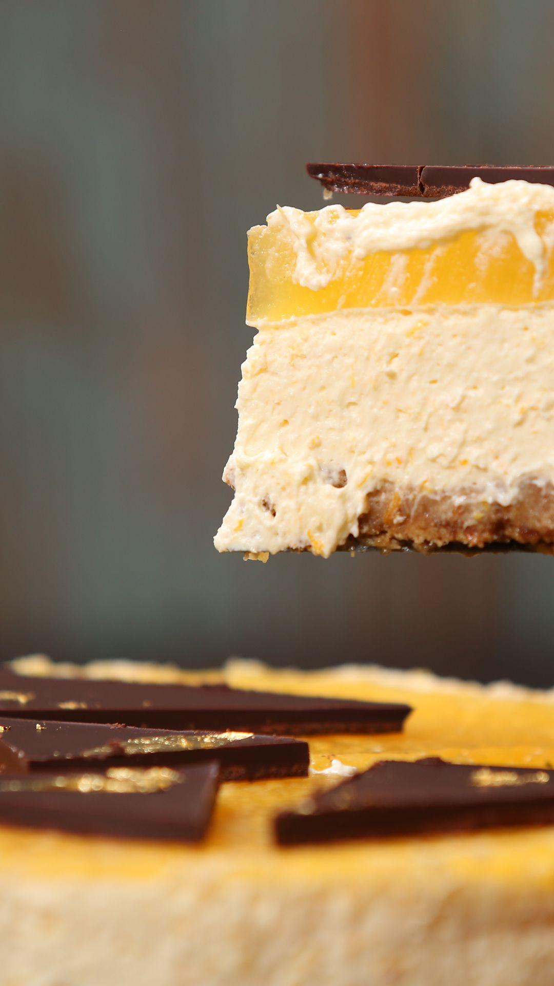 No Bake Jaffa Cake Cheesecake