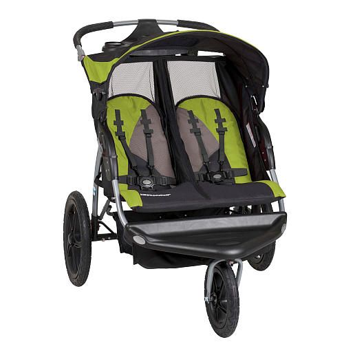 Double Pushchair For Toddlers Baby Trend Expedition Ex Double Jogger Wasabi Baby