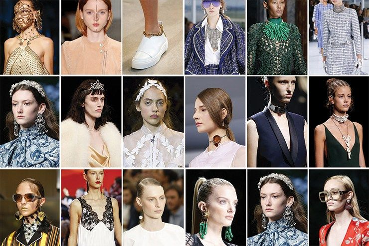 This isn't the year to shy away in the background – it's all about statements – and this year that statement is to wear as much jewellery as you can. Think rings on all your fingers, brooches and wearing multiple necklaces. Chains (the chunkier the better) will also be a massive jewellery trend.