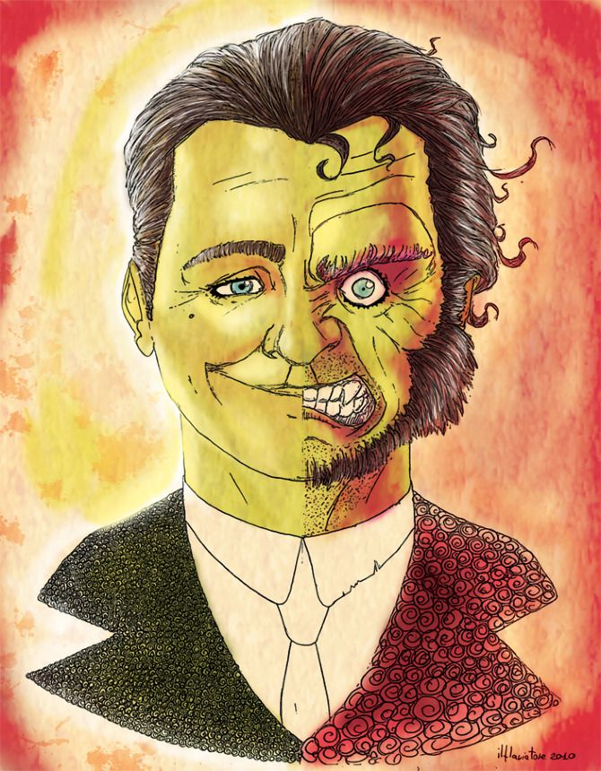 even though this drawing is of dr jekyll and mr hyde it totally looks like two face maybe we. Black Bedroom Furniture Sets. Home Design Ideas