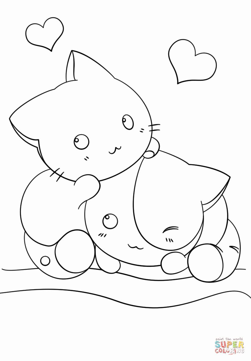 Printable Kawaii Coloring Pages Awesome Coloring Pages Cute Kawaii Animals Coloring Home In 2020 Animal Coloring Pages Cute Coloring Pages Mermaid Coloring Pages