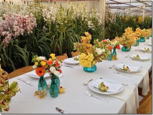 American Grown Field to Vase dinner at Westland Orchids in Carpinteria, CA