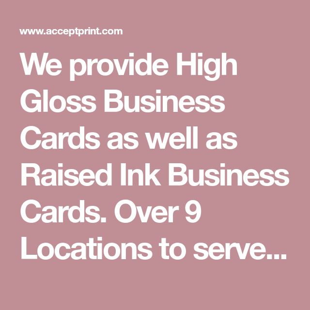 We provide high gloss business cards as well as raised ink business we provide high gloss business cards as well as raised ink business cards over 9 reheart Gallery