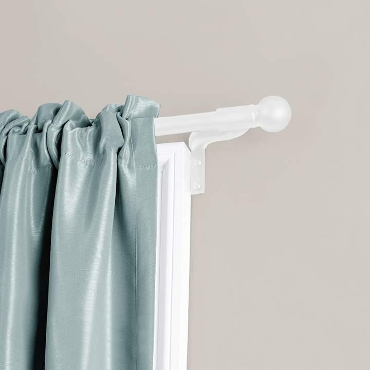 Maytex Smart Rods Easy Install Cafe Window Curtain Rod Window