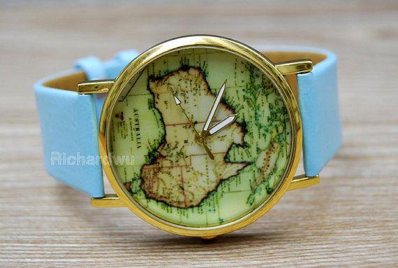 world map watch australia country map unisex watch by richardwu 399