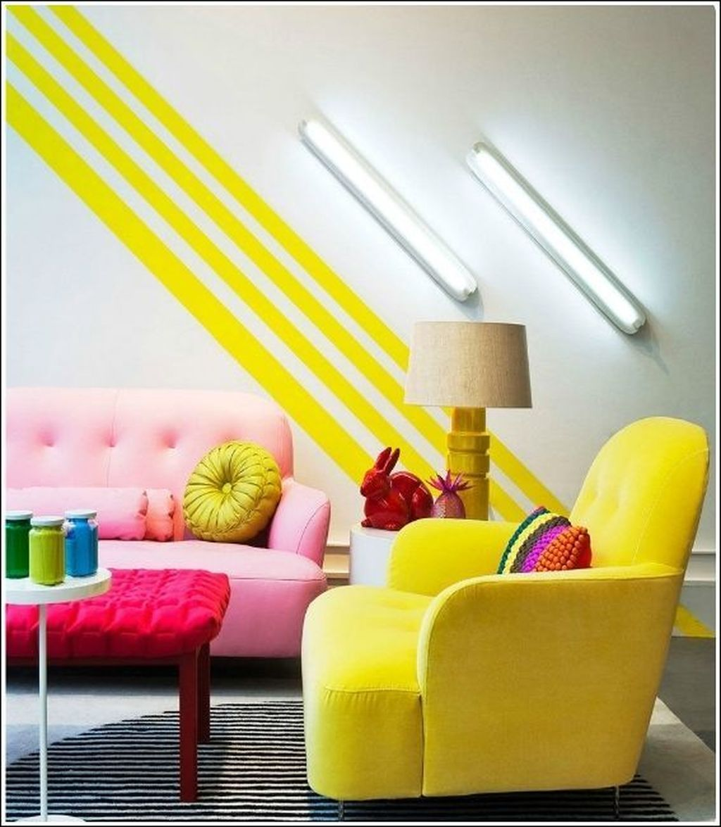 34 Inspiring Painting Stripes On Wall Ideas For Your Living Room ...