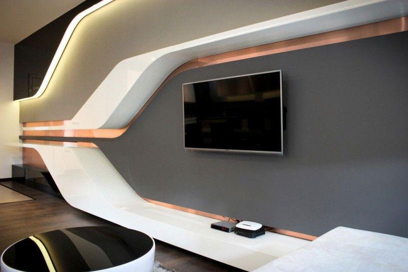 Private Home 07 By Bozhinovski Design Futuristic Interior Futuristic Bedroom Futuristic Home