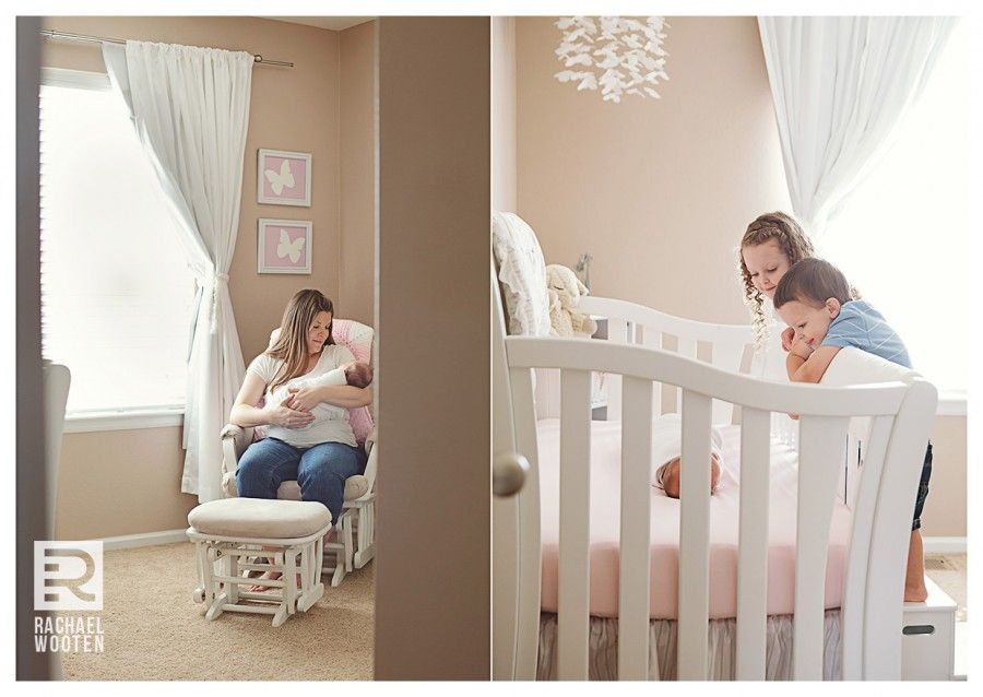 Family of 5 lifestyle photography session with newborn in denver parker colorado using natural light in