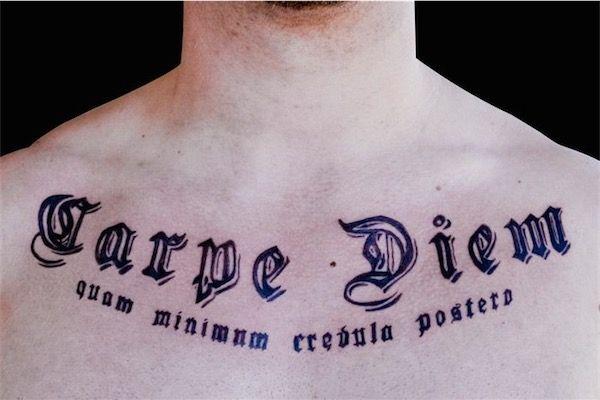 138 Carpe Diem Tattoos Latin Tattoo Tattoos For Guys Tattoos