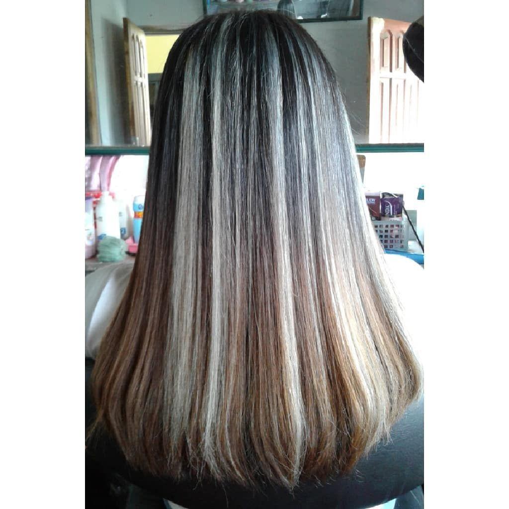 highlight gray by salon rapi nawangsara ingin penampilan rambut baru atau perawatan highlight gray by sal smooth hair long hair styles hair styles