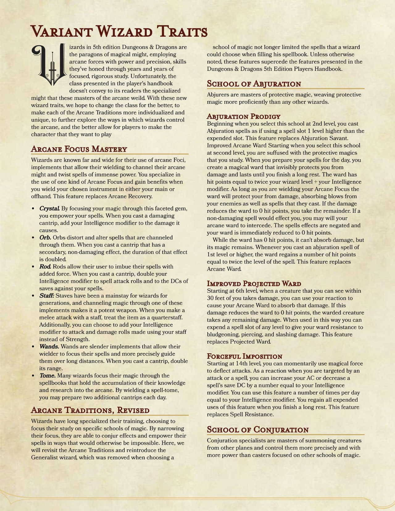 D&D Homebrew Collection | (D&D Classes) An Analytic Book of