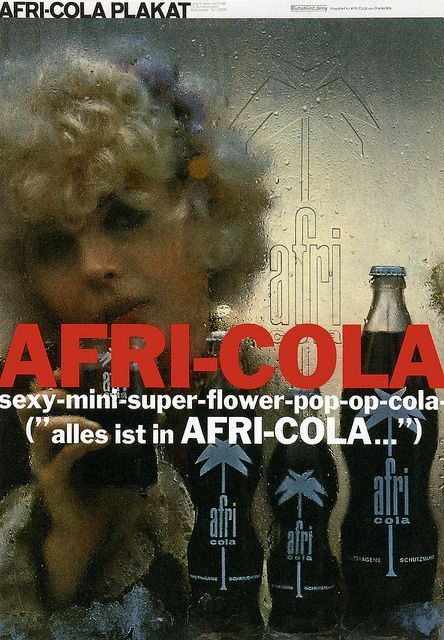 Wilp Charles De Ad Ph 1968 Afri Cola Sexy Mini Super Flower