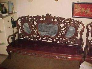 Chinese Carved Chair Antique Chinese 2 Chairs 1 Sofa 2