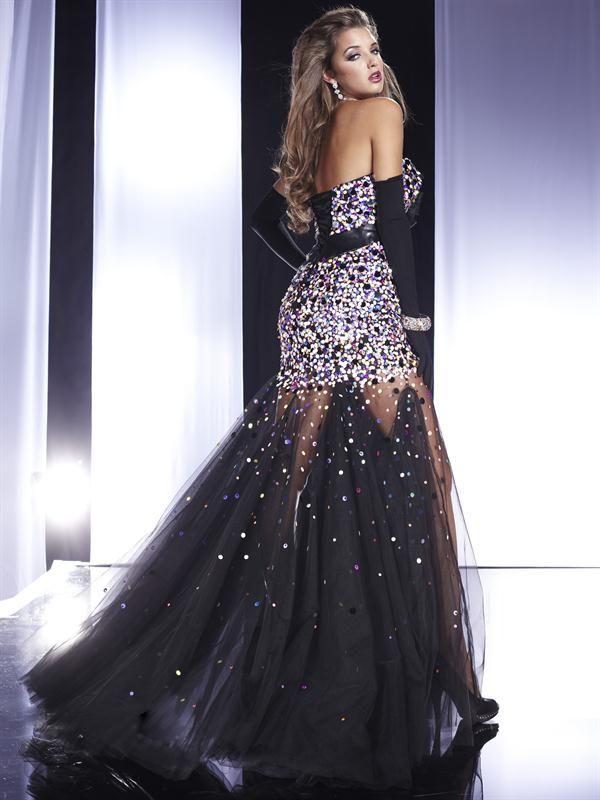 5ae75adbd Vestido de Noche Largo Negro muy Elegante
