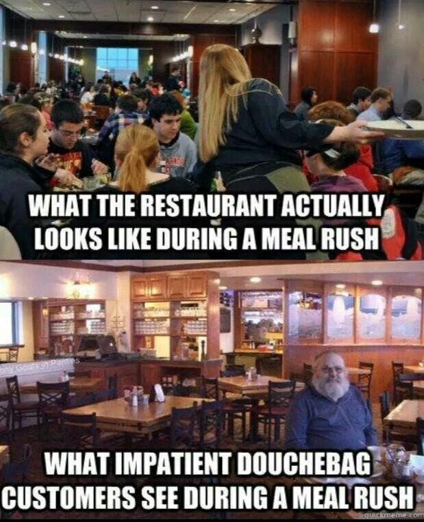 Funny Meme Restuaunt Service Industry Occupational Humor Waitress Humor Restaurant Humor Server Life Humor