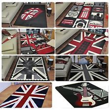 Extra Large Union Jack Modern Funky Retro Rugs Cheap Soft Area Rug