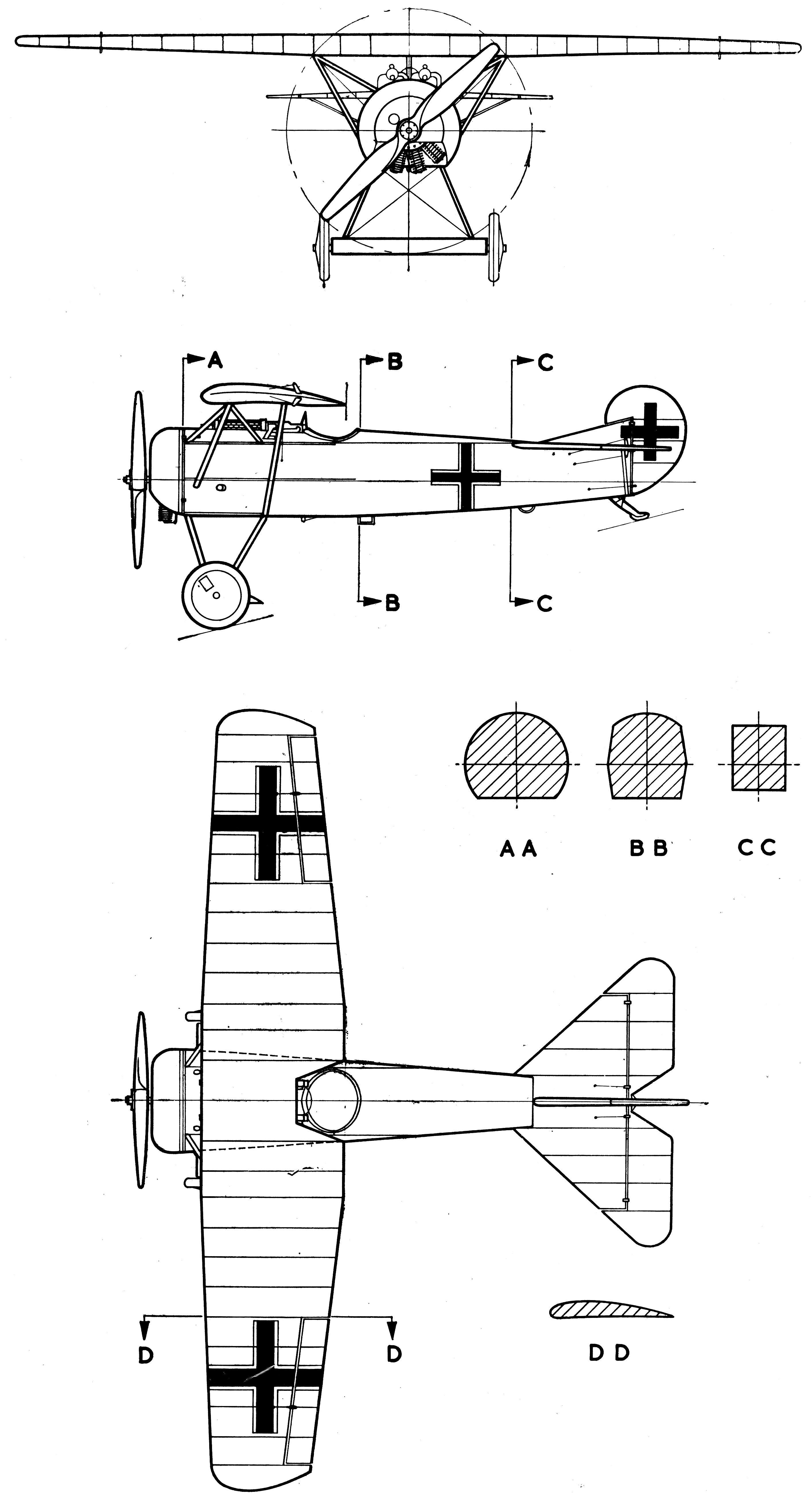 Fokker Dii Blueprint
