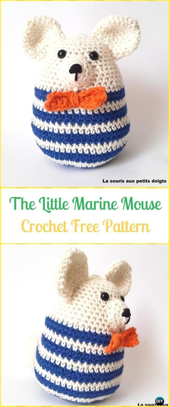 Crochet The little Marine Mouse Amigurumi Free Pattern - Amigurumi ...