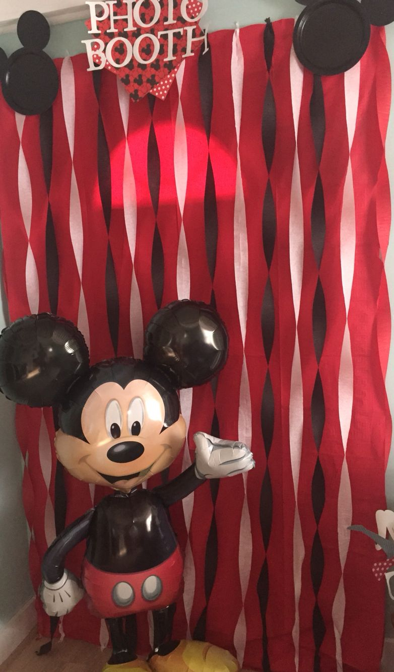 Mickey Mouse Photo Booth Aiden Birthday Ideas