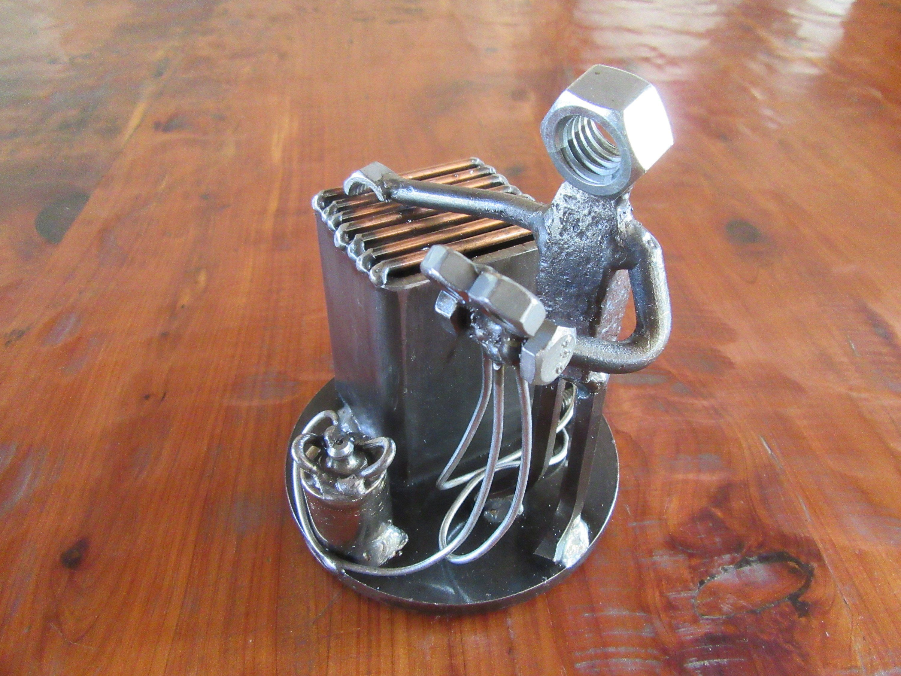 Air Conditioning Technician FigurineMetal ManFreon