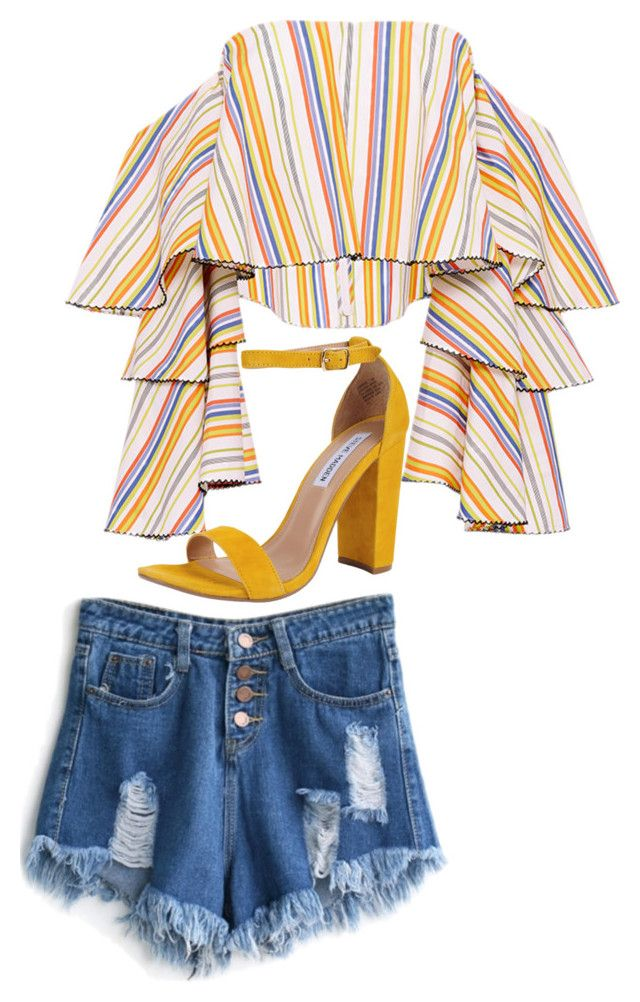 """""""Sin título #80"""" by fixapayno on Polyvore featuring moda, Caroline Constas, WithChic y Steve Madden"""