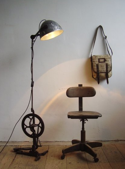 This lamp is made of an old dental drill!! Love it!!