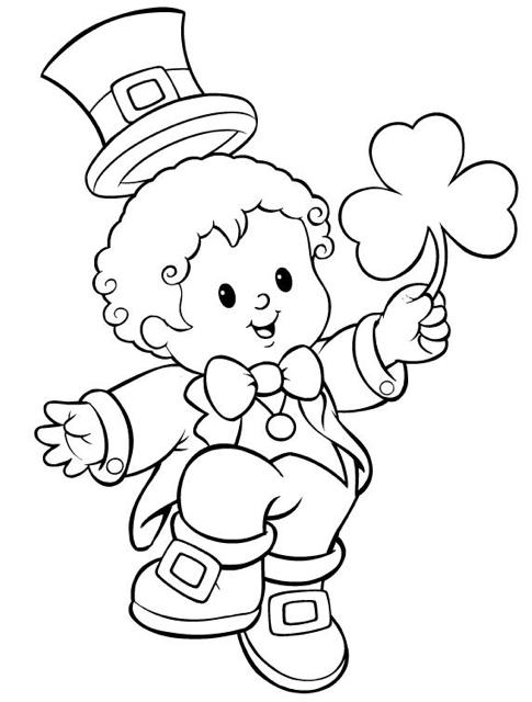 Shamrock Leprechaun Coloring Pages St Patricks Day Crafts For Kids St Patrick S Day Crafts Happy St Patricks Day