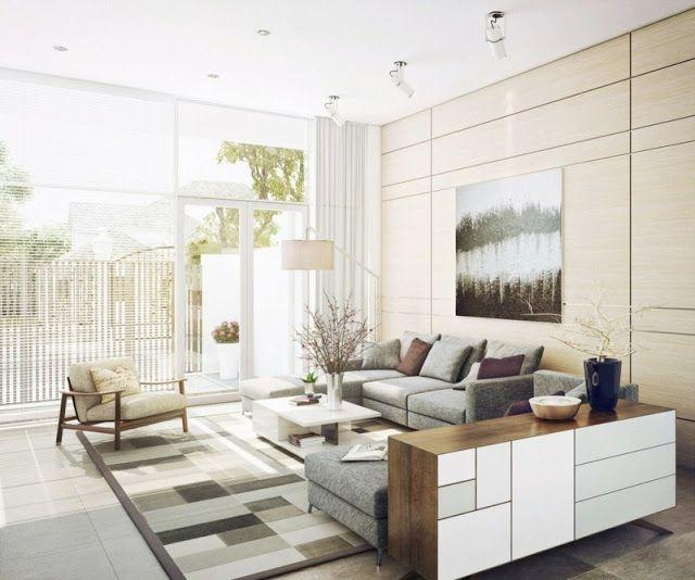 Salas decoradas - ideias com almofadas, quadros, cortinas ... ~ Decoração e Ideias