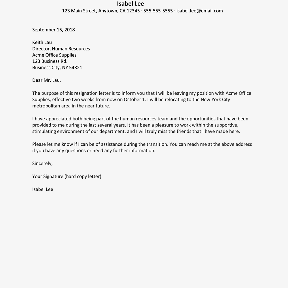 Letter Of Resignation Due To Hostile Work Environment from i.pinimg.com