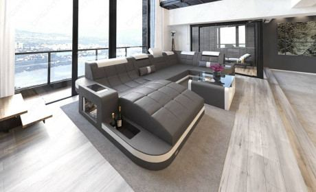 Design Sectional Sofa Jacksonville U Shape Led In 2020 Sofa Design Large Sectional Sofa Living Room Sectional