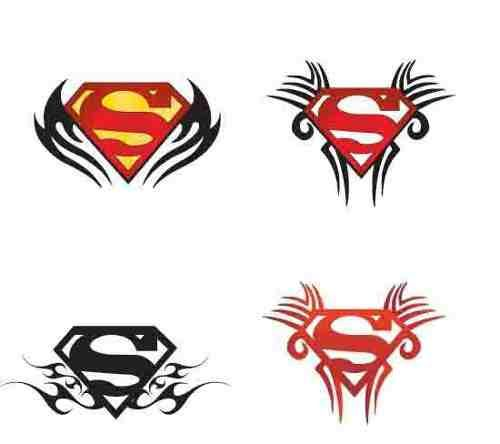Tribal Superman Tattoos Are Available In Different Designs And