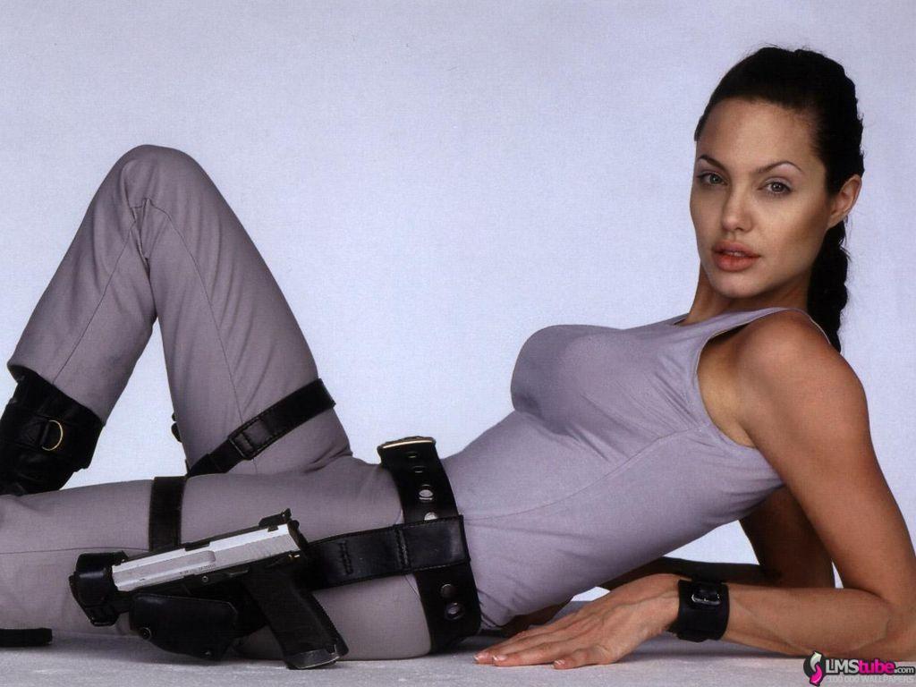 Angelina jolie side boob