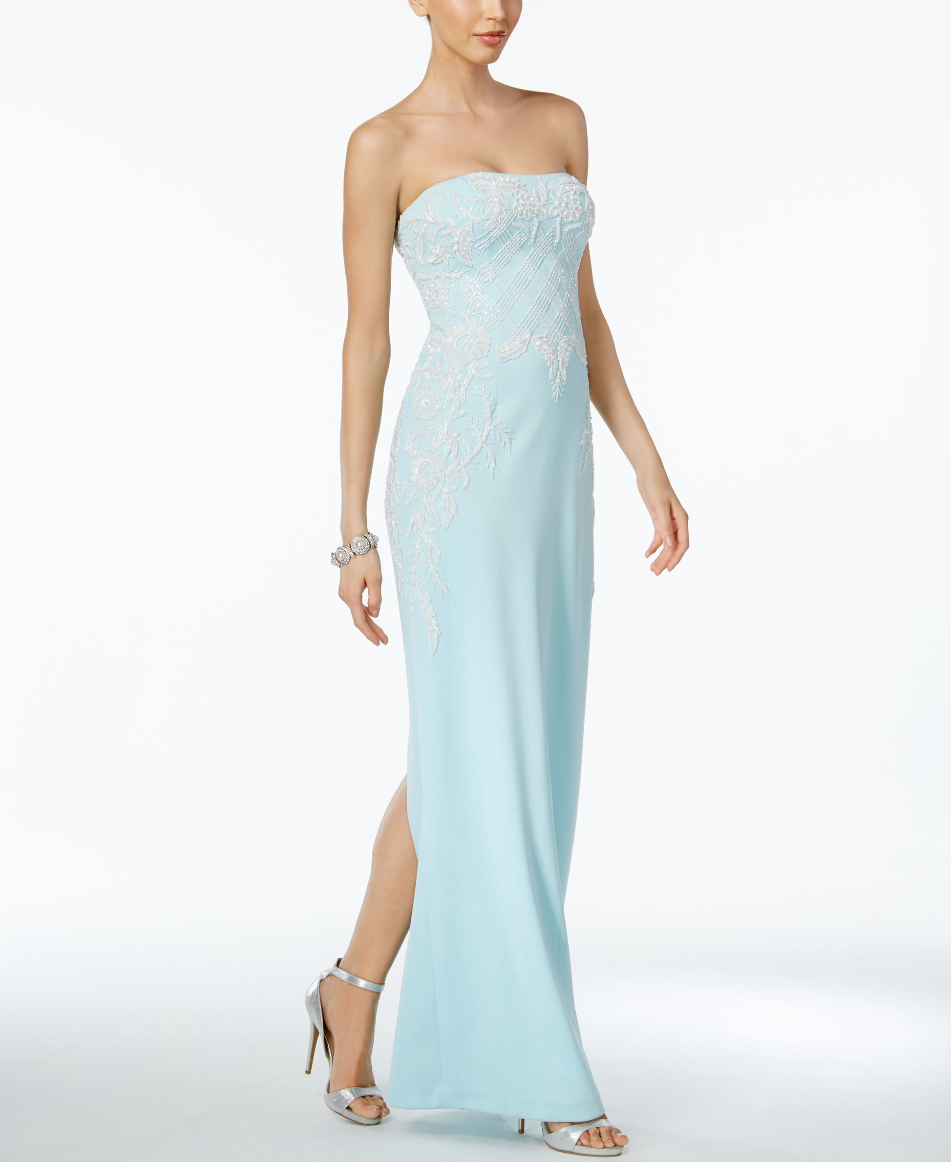 Adrianna Papell Strapless Beaded Gown   Products   Pinterest ...