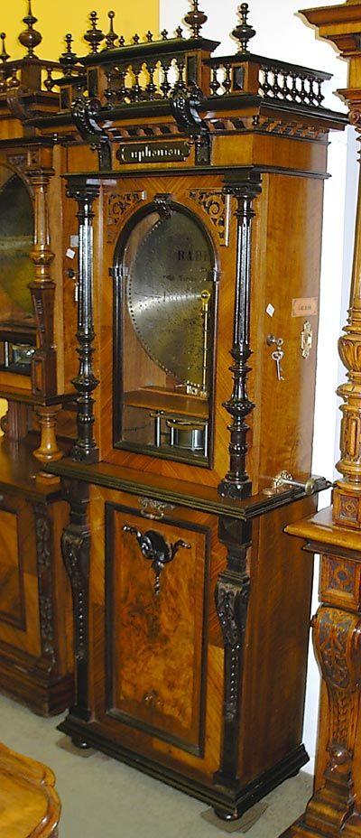Antique Euphonion Disc Music Box