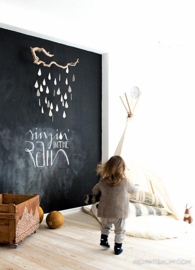 Kinderzimmerideen (Tipi, Malwand, Mobile,...)   Inspirationen fürs ...