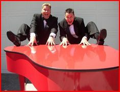 Dueling pianists provided by J&D Entertainment in Houston, TX- perfect way to add an interactive aspect to your live entertainment! ISES Houston, www.jdentertain.com