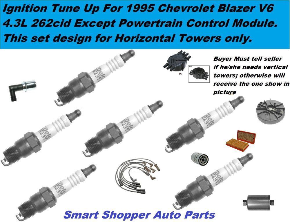 95 Chhevrolet Blazer V6 Distributor Cap Rotor Spark Plug Wire Set ...