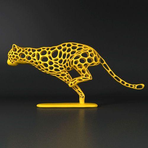 Cheetah Voronoi Wireframe 3D Print Model Drukarka 3d