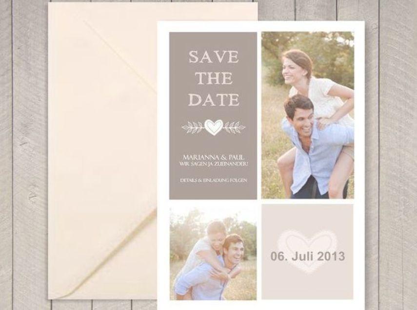 Einladungskarten  Save the Date Magnet oder Karte