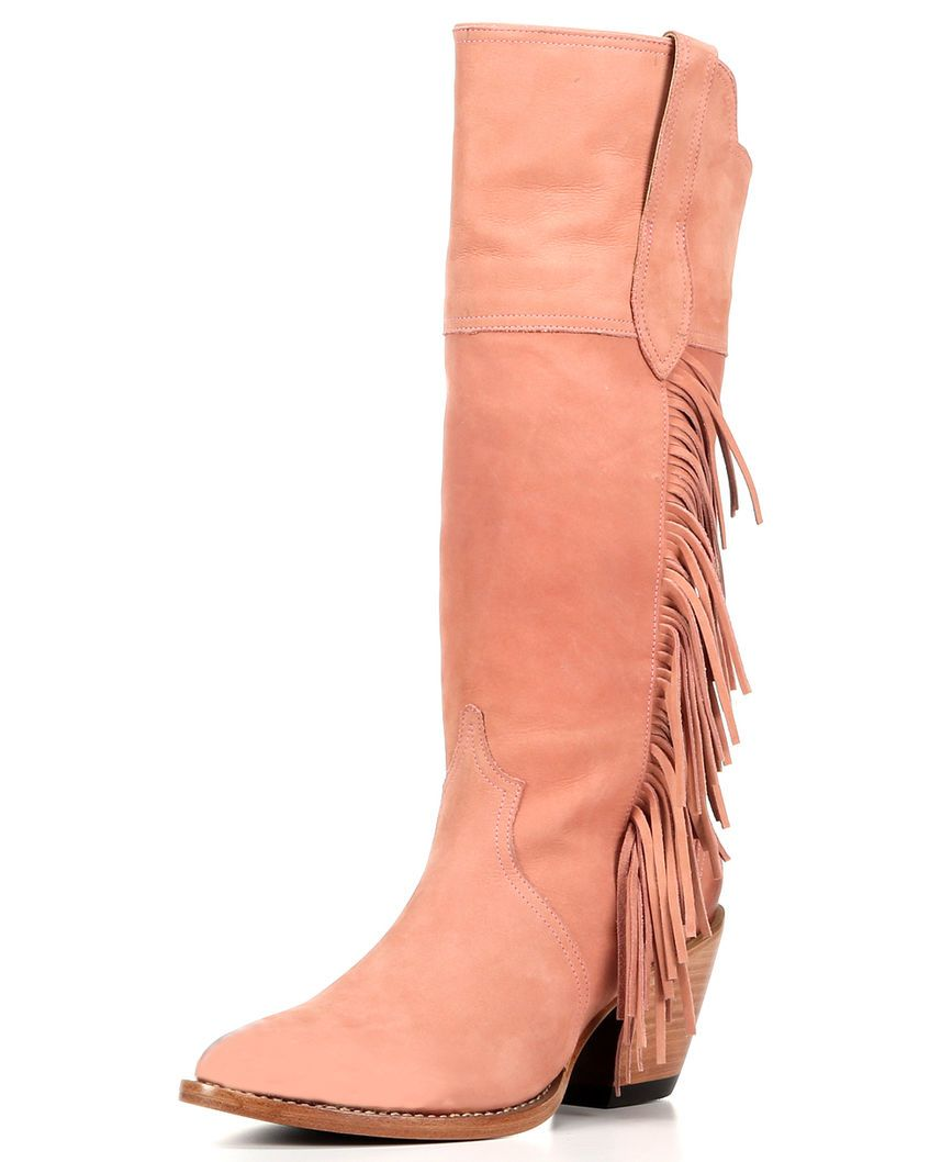 90efeb0a3c1 Lucchese   Kacey Musgraves Dusty Pink Suede Boot   Country Outfitter ...
